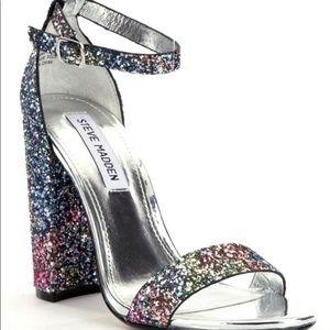 Steve Madden Carrson Multi Glitter Ankle Strap Hee